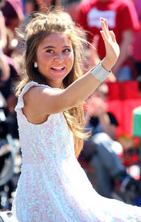 Layla Spring was this year's grand marshal of the Pigasus Parade. The Marion County teenager became a nationwide sensation this year advancing through the preliminaries to the top 24 participants of American Idol on ABC.