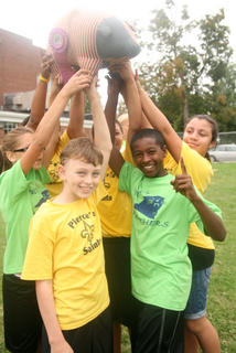 Lebanon Elementary defended its title as the Pig Pen Relay champions.