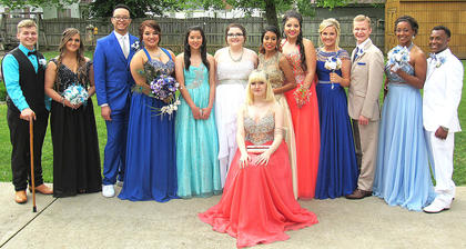 Pictured, from left, are Dylan Smith, Kennedy Mayo, Jalen Mattingly, Megan Newton, Chiao Chen, Bree Claywell, Jennifer Castillo, Jasmine Magana, Sarah Brady, Matthew Huff, Jarie Newby and Javen Adams; sitting in front is Courtney Bowman.