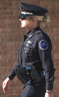 This officer from the Paris Police Department was one of several law enforcement officers from around the state who attended the funeral for Deputy Anthony Rakes.