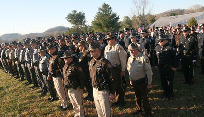 Law enforcement officials from across Kentucky and a few from out of state paid their respects to Rakes on Saturday.