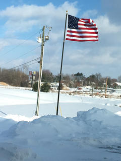 "Sharon ""Sam"" Bach took this photo outside Inter County Energy's office in Lebanon on Feb. 18."