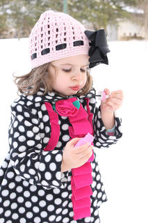 Sarah Mattingly took this photo of her daughter, Amelia Mattingly, blowing bubbles in the snow on Feb. 17.