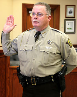 Marion County Sheriff Jimmy Clements is sworn in.