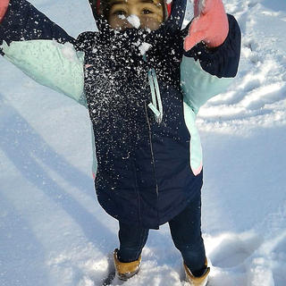 Alexandria Flowers, 2, enjoys her first time playing in the snow. She is the daughter of Lisa Sallee and Bernard Flowers.