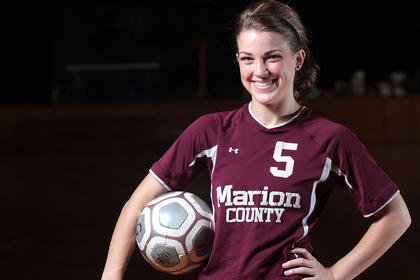 Christine Mattingly is the female soccer player of the year.