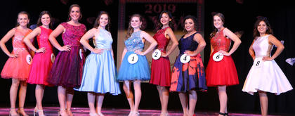 Pictured, from left, are Brianna Morris, Caroline Ball, Elise Carpenter, Jessah Hughes, Alivea Peake, Tessa Hillman, Alexis Browning, Jenna Cecil and Fernanda Reyes.