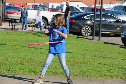 Arabella Osborne took first place in the hula hoop contest at St. A's on Sept. 29.