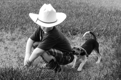 Honorable mention Stephanie Riggs took this photo of her son, Keaton, a few days after adopting their dog, Addie. Riggs said Keaton and Addie immediately became best friends.