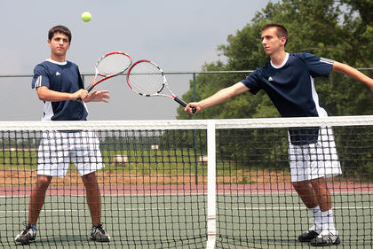 Jacob Burdette and Noah Swencki are the male tennis players of the year.