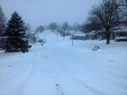 This is what Tracy Lyon woke up to today in Rolling Hills on Feb. 18.