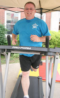 Marion County Sheriff Jimmy Clements goes for a jog.