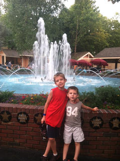 Blake and Ryan Tungate enjoy a trip to Dollywood in Pigeon Forge, Tenn.