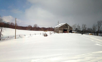Pictured is a Bradley and Shelly Yates' barn in Gravel Switch.